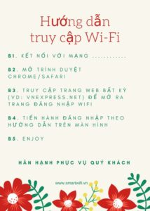 Hướng dẫn truy cập wifi marketing
